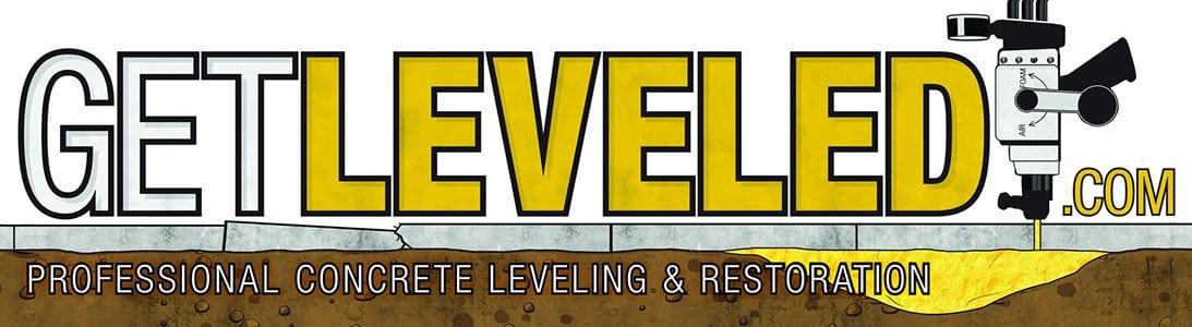 get leveled concrete leveling  banner